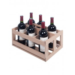 Wooden 6-bottle rack