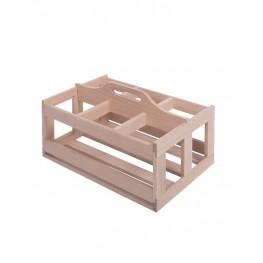 Portabottiglie da 6 in legno CASIER6