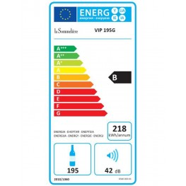 VIP195N wine cellar multi-zone 195 bottles energy label