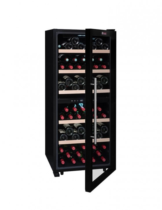 cave vin double zone pour 102 bouteilles cvd102dz la sommeli re. Black Bedroom Furniture Sets. Home Design Ideas