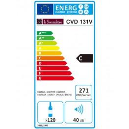 Cave à vin CVD131V 120 bouteilles classe energie La Sommeliere