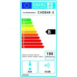 CVDE46-2 wine cellar double zone 46 bottles energy