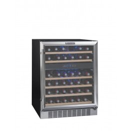 CVDE46-2 wine cellar double zone 46 bottles la sommeliere