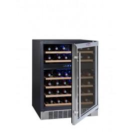 Zweizonen-Weinschrank CVDE46-2 für 46 Flaschen la sommeliere