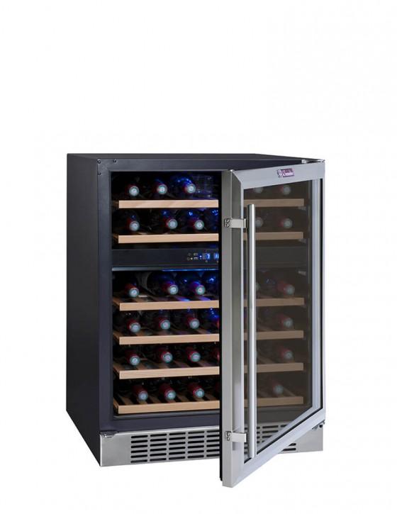 CVDE46-2 wine cellar double zone 46 bottles la sommeliere
