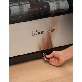 Cave à vin PF110 107 bouteilles la sommeliere zoom serrure