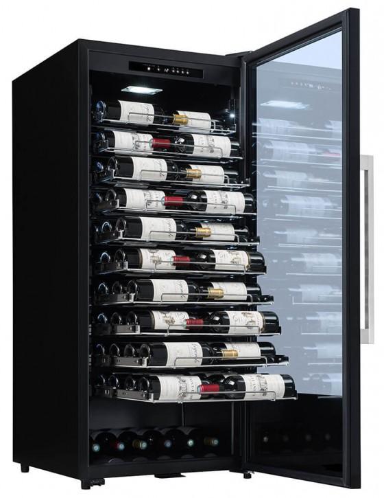 Cave à vin PF110 107 bouteilles la sommeliere clayettes coulissantes