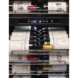 Frigo cantina PF160DZ doppia zona 152 bottiglie zoom bottiglie