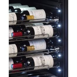 Cave à vin PF160DZ double zone 152 bouteilles la sommeliere zoom LED