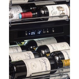 PF160DZ wine cellar double zone 152 bottles la sommeliere zoom control panel