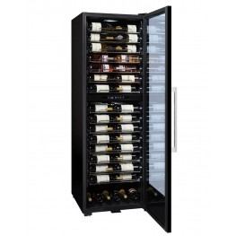 PF160DZ wine cellar double zone 152 bottles la sommeliere full cellar door opened