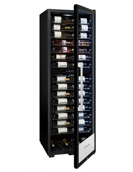 Cave à vin PF160DZ double zone 152 bouteilles la sommeliere