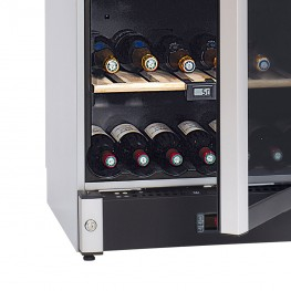 Cave à vin VIP180 multi-zones 180 bouteilles La Sommelière zoom serrure