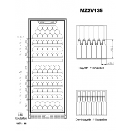 Cave à vin MZ2V135 double zone plan chargement bouteilles