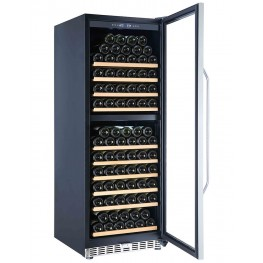 MZ2V135 wine cellar double zone 135 bottles la sommeliere door open
