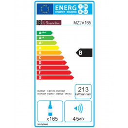 Cave à vin MZ2V165 double zone étiquette énergie