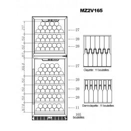 Vinoteca MZ2V165 2 zonas 165 botellas
