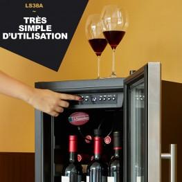 LS38A wine cellar 38 bottles easy use la sommeliere