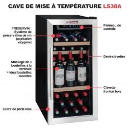 Cave à vin LS38A 38 bouteilles préservation vin intégré innovation la sommeliere