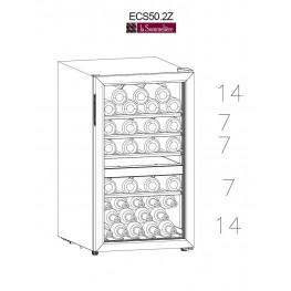 Frigo cantina doppia zona ECS50.2Z 49 bottiglie