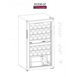 Cave à vin ECS30.2Z double zone 29 bouteilles plan de chargement