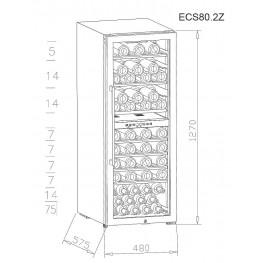 Cave à vin ECS80.2Z double zone 77 bouteilles