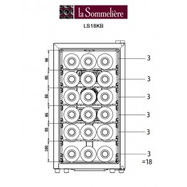 thermoelectric chamber cellar LS18KB 18 bottles loading la sommeliere
