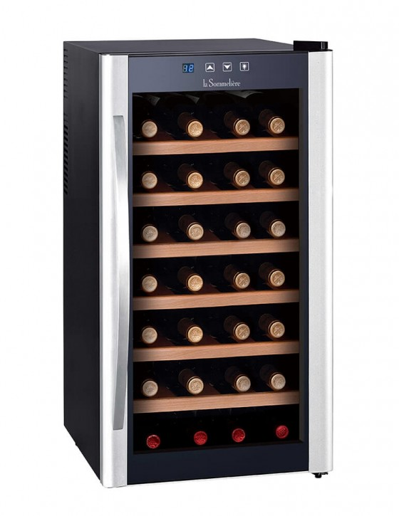 Weintemperierschrank elektrothermischen LS28KB, 28 Flaschen la sommeliere