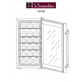 Thermoelectric wine cellar LCS18 18 bottles la sommeliere