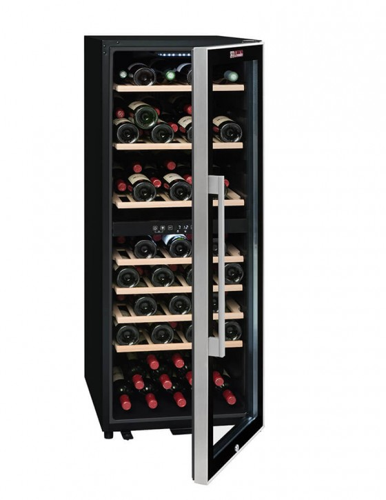 Cave à vin ECS80.2Z, double zone 79 bouteilles La Sommelière (pleine entrouverte)