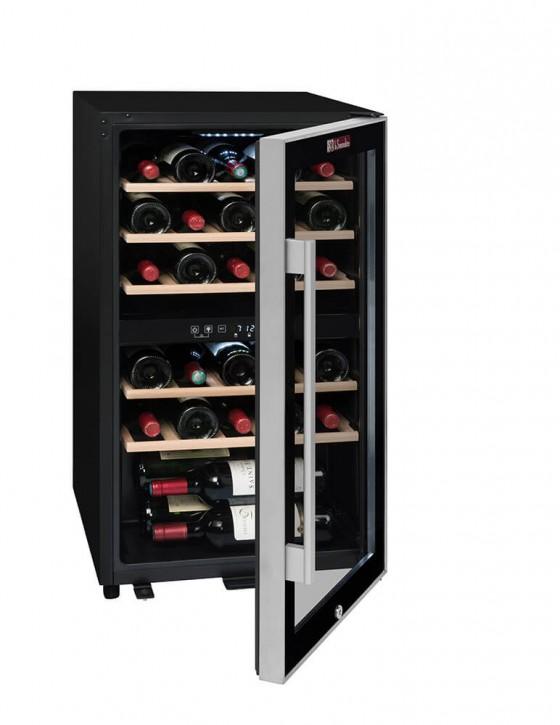 Cave à vin ECS30.2Z, double zone 29 bouteilles La Sommelière (pleine entrouverte)