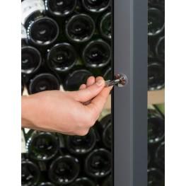Cave à vin VIP280V multi-zones La Sommelière zoom serrure