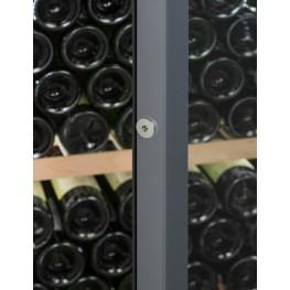 Cave à vin VIP330P 329 bouteilles La Sommelière Zoom serrure