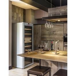 VIP315V Multi-zone wine cellar 325 bottles in kitchen