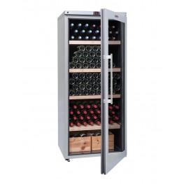 Cave à vin VIP265V multi-zones 265 bouteilles la sommeliere entrouverte pleine